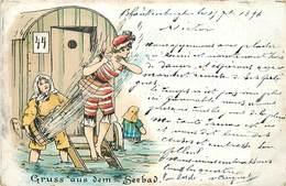 BLANKENBERGHE - Gruss Aus Dem Seebad, Carte Illustrée Datée De 1896. - Blankenberge
