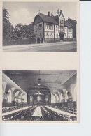 Ak Bieber, Offenbach, Restauration, Turnhalle Turnverein 1861, 2-Bildkarte - Offenbach