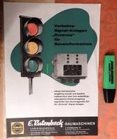 """E. Rutenbeck-Baumaschinen : Verkehrs-Signal Anlagen """"Duranos"""" - Feu De Signalisation - 1965 - Transports"""