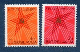 Yougoslavie - YT N° 1665 Et 1666 - Neuf Sans Charnière - 1979 - Nuevos