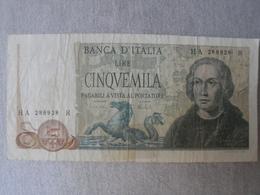 ITALY 5000 Lire Colombo - [ 2] 1946-… : Républic
