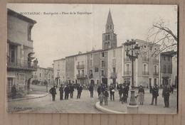 CPA 34 - MONTAGNAC - Rond-point - Place De La Répûblique - TB PLAN TB ANIMATION Publicité CIRQUE PINDER MAGASINS - Montagnac