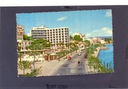 SPAIN PALMA MALLORCA POSTCARD VINTAGE CAR PASEO MARITIMO BUILDING PEOPLE BAY - Spain
