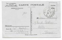 6 JUIN 1940 - CP FM Du SP 12333 - 15° RIA JUSTE AVANT SON ENCERCLEMENT DANS LA SOMME => ALBI - Marcophilie (Lettres)