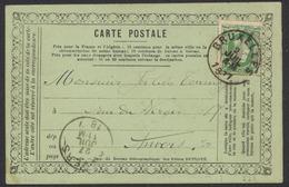 """Carte Postale Française """"Sténographie - Duployé"""" Affranch. Par N°30 Expédié De Bruxelles Vers Anvers (1877). Pas Courant - 1869-1883 Leopold II."""