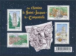 France - Les Chemins De St-Jacques De Compostelle / Le Feuillet YT F4641 Obl Cachet Rond - Oblitérés