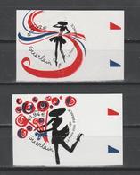 """FRANCE / 2020 / Y&T N° AA 1814/1815 ** : """"Coeurs Guerlain"""" (2 TP Adhésifs De Feuille) X 1 Tous BdF D - Adhésifs (autocollants)"""