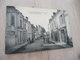 CPA 37 Indre Et Loire Chateaurenault L Rue De La République - France