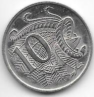 *australia 10 Cents 1977  Km 65  Xf+/ms60 - Decimal Coinage (1966-...)