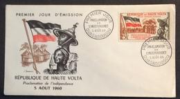 AFHV6 Haute Volta Proclamation De L'Indépendance Ouagadougou  FDC Premier Jour 5/8/1960 Lettre - Upper Volta (1958-1984)