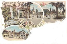 GENEVE / EXPOSITION NATIONALE De 1896 - SOUVENIR DU VILLAGE SUISSE - GE Genève