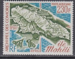 Comores P.A. N° 67 XX  Carte De L' île Mohéli  Sans Charnière, TB - Unclassified