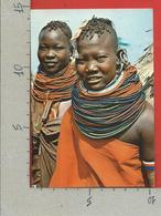 CARTOLINA VG KENIA - Tribe Of Kenya - Turkana Girls - 10 X 15 - 1981 - Kenia