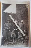 1914 Meurthe Et Moselle Seille Officiers 66 Eme Régiment Infanterie Bombardement Poilus Tranchée 14 18 1 Ww1 Carte Photo - War, Military