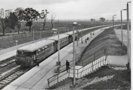 AK 0412  Halle-Neustadt - Bahnhof / Ostalgie , DDR Um 1968 - Bahnhöfe Mit Zügen