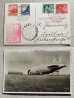 GRAF ZEPPELIN - Cartolina Illustrata Volo Frankfurt-Eger 13/08/1939 - Zeppelines