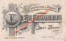 Manufacture De Voitures E. Floquet - Saint-Amand Cher - 21x13cm - Automobile