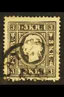 1858-9 3k Black, Type II, Mi 11 II, Used With C.d.s. Postmark. For More Images, Please Visit Http://www.sandafayre.com/i - Austria