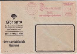 DR 3 Reich Freistempel Bank Bf Gumbinnen Ostgebiete Ostpreußen 1940 - Allemagne