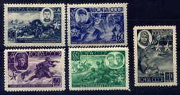 RUSSIE - 931/935**  - HEROS DE GUERRE - 1923-1991 USSR