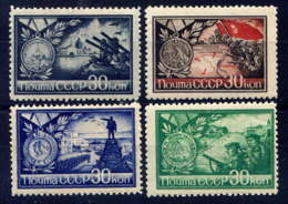 RUSSIE - 924/927**  - A LA GLOIRE DES DEFENSEURS DE STALINGRAD, SEBASTOPOL & ODESSA - 1923-1991 USSR