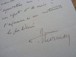 Léon MIRMAN (1865-1941) Député MARNE Reims - Préfet MOSELLE (14/18) Annexion LORRAINE / Metz - AUTOGRAPHE - Autographs