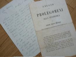 Franco MISTRALI (1833-1880) Romancier VAMPIRE ITALIEN Italia Garibaldi - AUTOGRAPHE AUTOGRAFO - Autographes