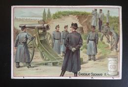 Suchard Chromo Armee Suisse Artillerie Canon   Schweiz Militaire - Suchard