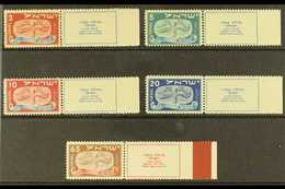 1948 New Years Complete Set With Tabs (SG 10/14, Bale 10/14), Never Hinged Mint, Fresh. (5 Stamps) For More Images, Plea - Israel