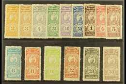 "REVENUE STAMPS CONSULAR SERVICE 1900 (inscribed ""Servicio Consular"") Most Values To 30p (between Forbin 1 & 18) Includin - Paraguay"