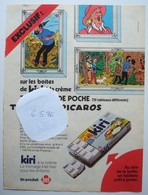 Publicité Fromage Kiri Tintin Et Les Picaros. - Spirou 1976. - Publicités