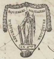 Héraldique Strasbourg An 6 - 1797 Administration Des équipages Militaires Congé Limité 'Kaysersberg' - Historical Documents