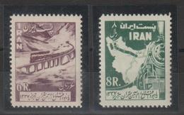 Iran 1958 Trains 917-18  2 Val ** MNH - Iran