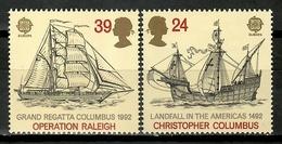 Great Britain 1992 Inglaterra / Ships Columbus Europa CEPT MNH Schiffe Barcos Colón Bateux / Cu15618  29-34 - Barcos