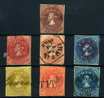 Chile Nº 1, 5, 5a, 6, 7/9. Año 1853/67. - Chile