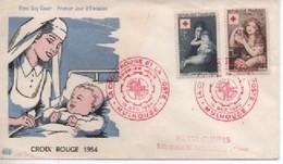 FDC  CROIX ROUGE  1954   N° YVERT ET TELLIER   1006/7 TRES BON ETAT - 1950-1959