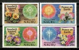 Nauru 1979 / Flowers Christmas MNH Flores Navidad Weihnachten Blumen Fleurs Nöel / Cu15716  31-45 - Vegetales