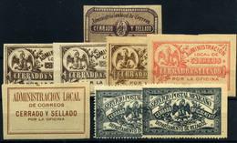 México Nº 1, 8/10, 16, 19. Año 1885/905. - México