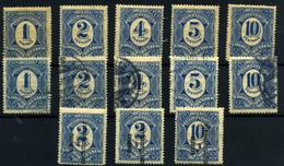 México (Tasas) Nº 1/5, 7, 10, 1/5. Año 1908/15. - México