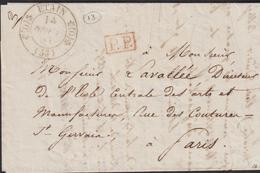 LETTRE DE LA MEUSE AVEC CACHET TYPE 11 D'ETAIN LSC 1835 TB - Marcophilie (Lettres)