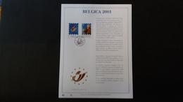 Belgique 2000 : FEUILLET D'ART EN OR 23 CARATS.Timbre Numéro 2901 - Belgium