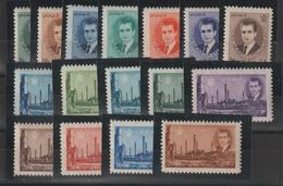 Iran 1966 Série Courante 1154-69 Sauf 1159A (4r Brun) 16 Val ** MNH - Iran