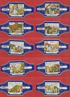 Série De 10 Bagues De Cigares Astérix Murillo - Altri