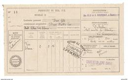 MILITARIA PASSAVANT OCTROI DE PARIS BERCY 25 SEPEMBRE 1940 LES FILS V. BOUSQUET CHARENTON ZONE POUR LA COURNEUVE DEHALU - 1939-45