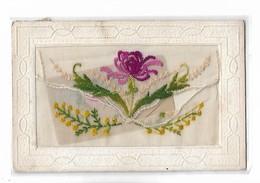 Carte  Brodée  -    Fleurs  Varies - Andere