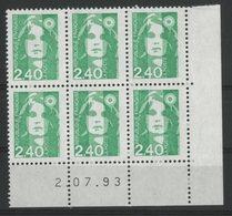 N° 2820 ** (MNH). Coin Daté Du 2/07/93. TB - 1990-1999