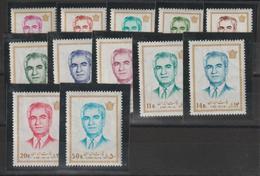 Iran 1971 Série Courante 1401-12 12 Val ** MNH - Iran