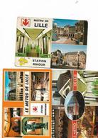 3 Cartes Le Metro De Lille - Lille