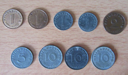 IIIe Reich - Lot De 17 Monnaies Diverses - [ 4] 1933-1945 : Troisième Reich
