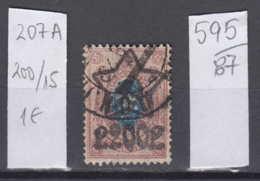 87K595 / 1922 - Michel Nr. 207 A - Overprint 200 R. / 15 K. - Freimarken , Used ( O ) Russia Russie - 1917-1923 Republic & Soviet Republic